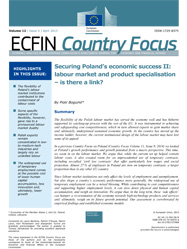 Securing Poland's economic success II: labour market and product specialisation – is there a link?