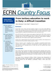 From tertiary education to work in Italy: a difficult transition