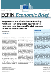 32 - Fragmentation of wholesale funding markets – an empirical approach to measure country-specific risk premia in banks' bond spreads