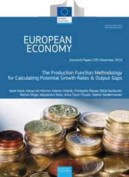 535 - The Production Function Methodology for Calculating Potential Growth Rates & Output Gaps - Havik, Mc Morrow, Orlandi, Planas, Raciborski, Roeger, Rossi, Thum-Thysen, Vandermeulen