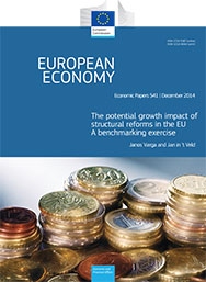 541 - The potential growth impact of structural reforms in the EU. A benchmarking exercise - Janos Varga, Jan in 't Veld