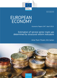 547 - Estimation of service sector mark-ups determined by structural reform indicators - Anna Thum-Thysen, Erik Cantor