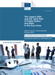 The Legacy Debt and the Joint Path of Public Deficit and Debt in the Euro Area