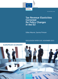Tax Revenue Elasticities Corrected for Policy Changes in the EU