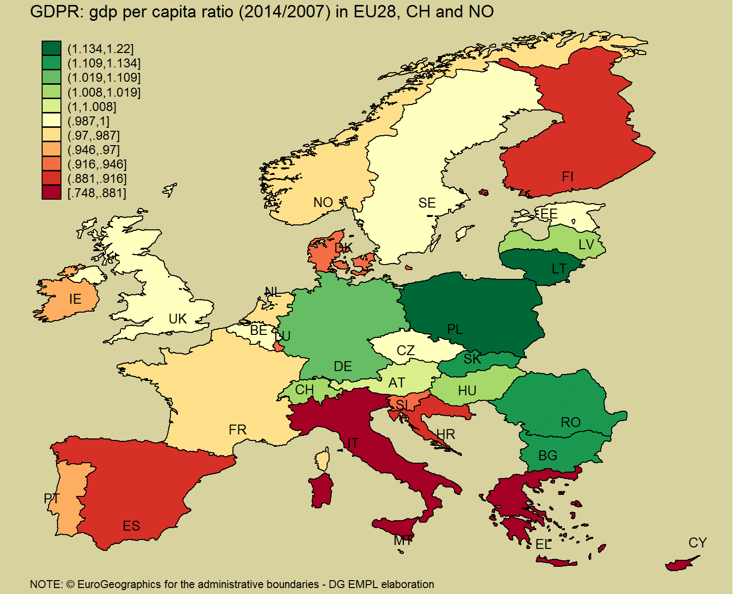Are We Richer Or Poorer Than Before The Onset Of The Crisis - Map of us gdp countries