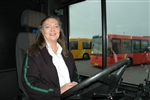 Jane Grøne, 58, qualified as a bus driver in Aalborg, Denmark.