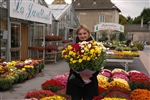 Audrey Libres, 21, went back to college in Champagne, France, to qualify as a trainee florist.