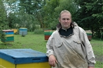 Normunds Zeps, 31, raises honey bees in Kalupe, in rural Latvia.