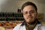 Andrej Lovrencec, 22, did 'on-the-job' agricultural training in the Prekmurje region of Slovenia.