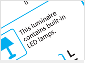 Luminaires containing only non-replaceable LED modules