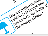 Luminaires containing both non-replaceable LED modules and sockets for user-replaceable lamps classified in energy efficiency classes A++ to E