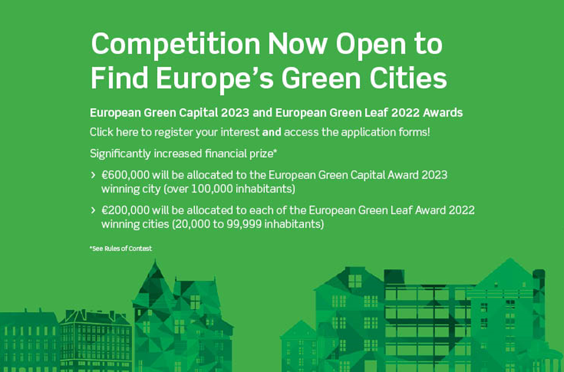 Competition to find Europe's Greenest Cities