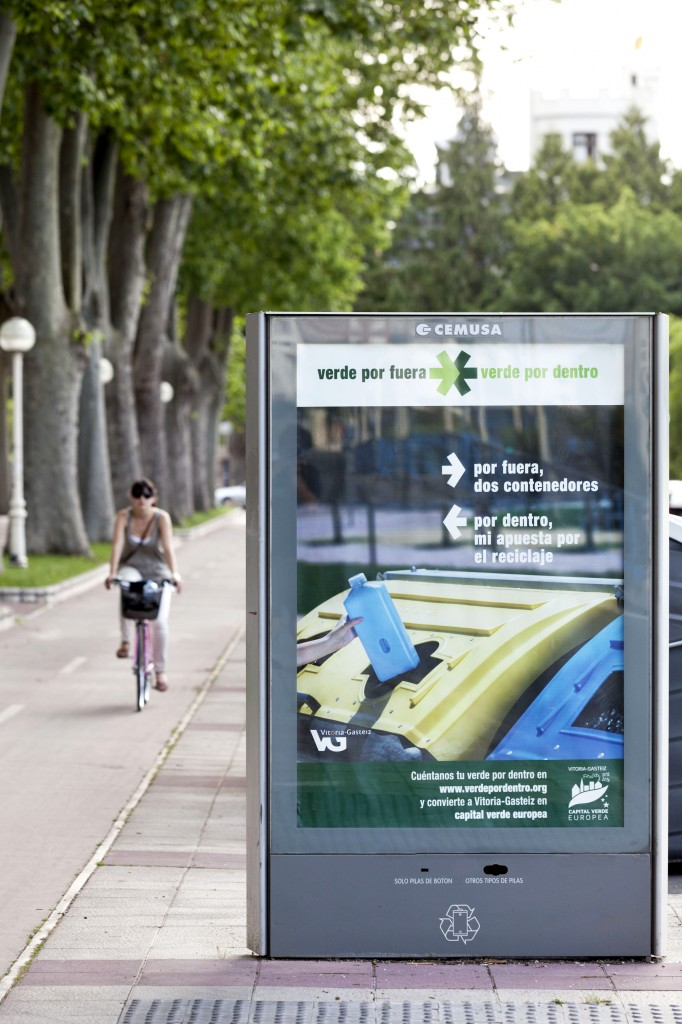 Recycling information Board in Vitoria-Gasteiz, the 2012 European Green Capital