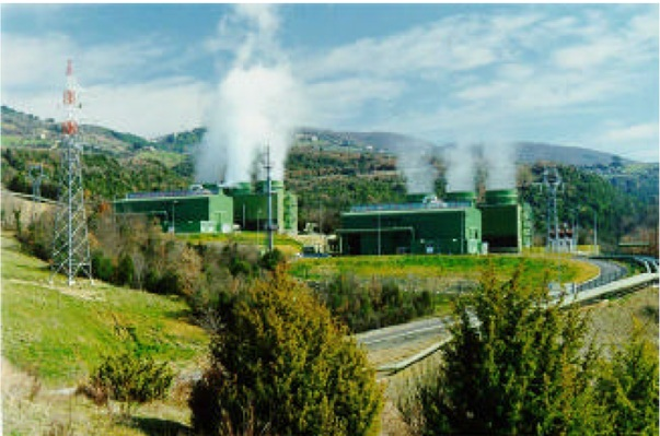 Larderello Geothermal Power Station (Courtesy of ENEL)