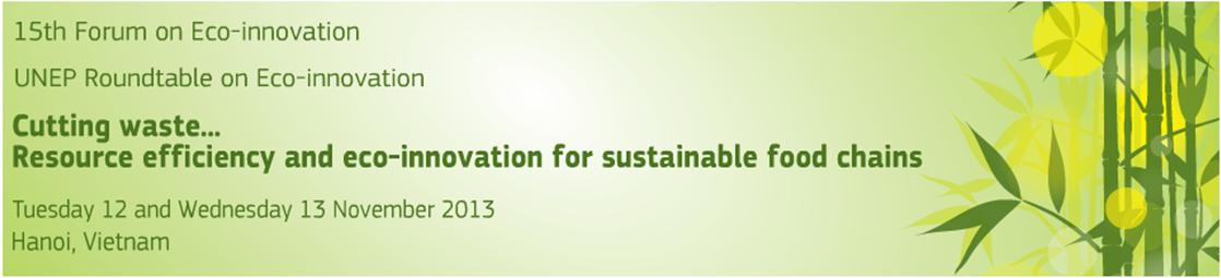 12.11.2013 15th Forum on EcoInnovation 1