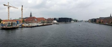The new pedestrian and cycle bridge will be located north of Langebro. Image courtesy of realdania.dk