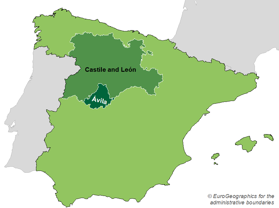 Regional Map Of Spain.Guidelines For Population Level Management Plans For Large
