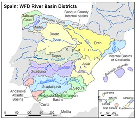 Map Of Spain Ebro River.Implementation Of River Basin Management Plans Spain Environment