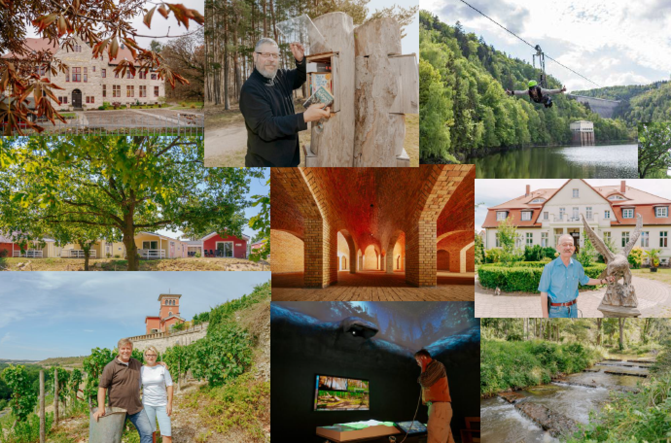 A collage of several regional projects supported through esi funding