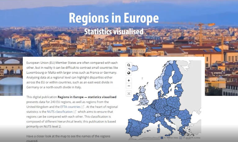 Interactive publication: Regions in Europe