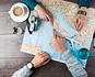 Tourists choosing destinations