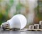 LED Lightbulb and money