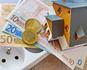 Euro money, socket, house