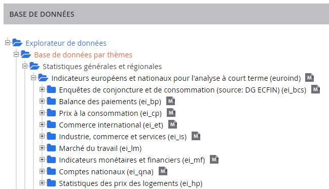 Example of reference metadata files in the data navigation tree