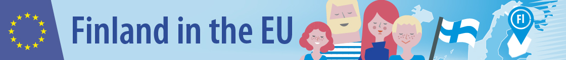 Banner: Finland in the EU