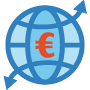 Icon illustrating international trade in goods statistics