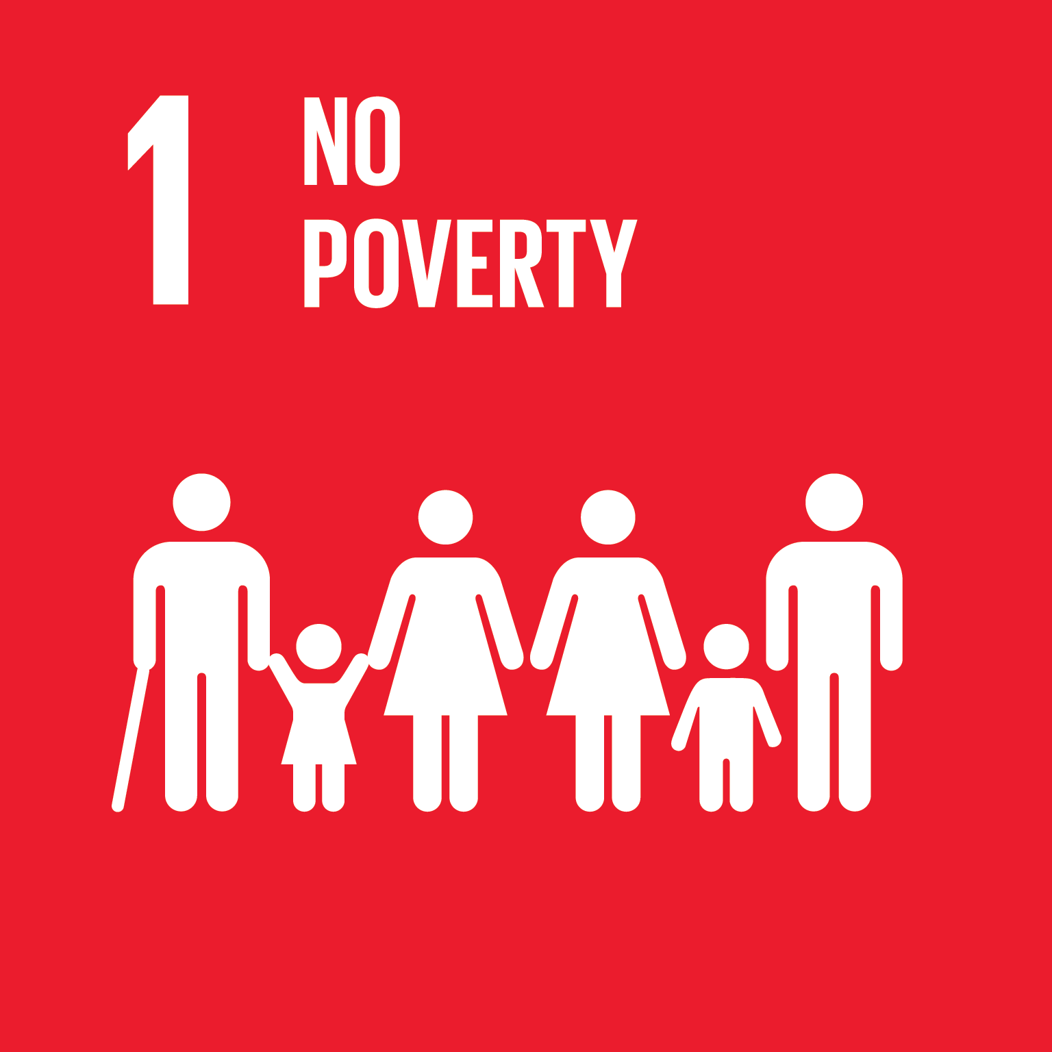 SDG Goal 1 'No poverty' © UN