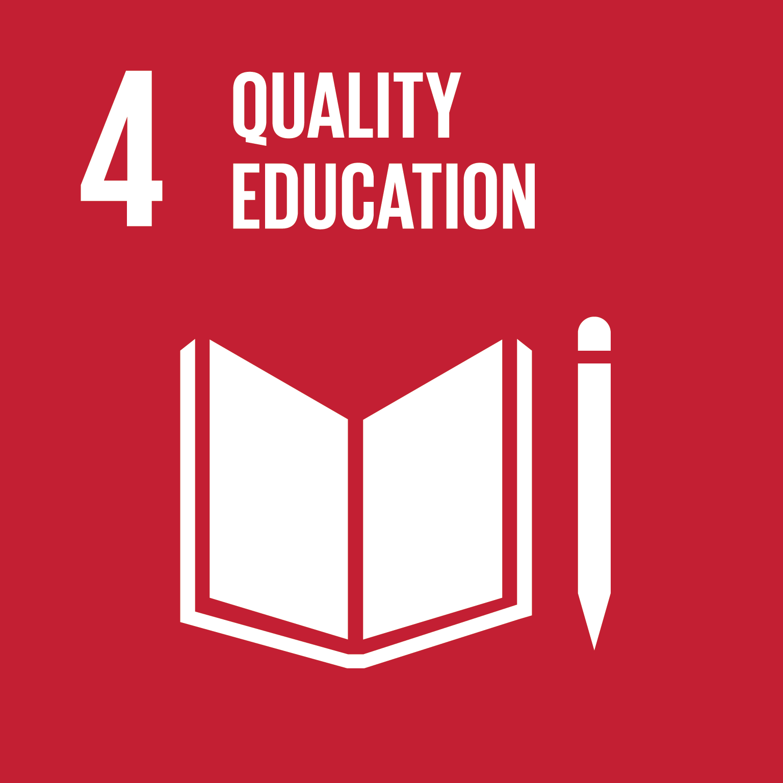 SDG Goal 4 'Quality education' © UN