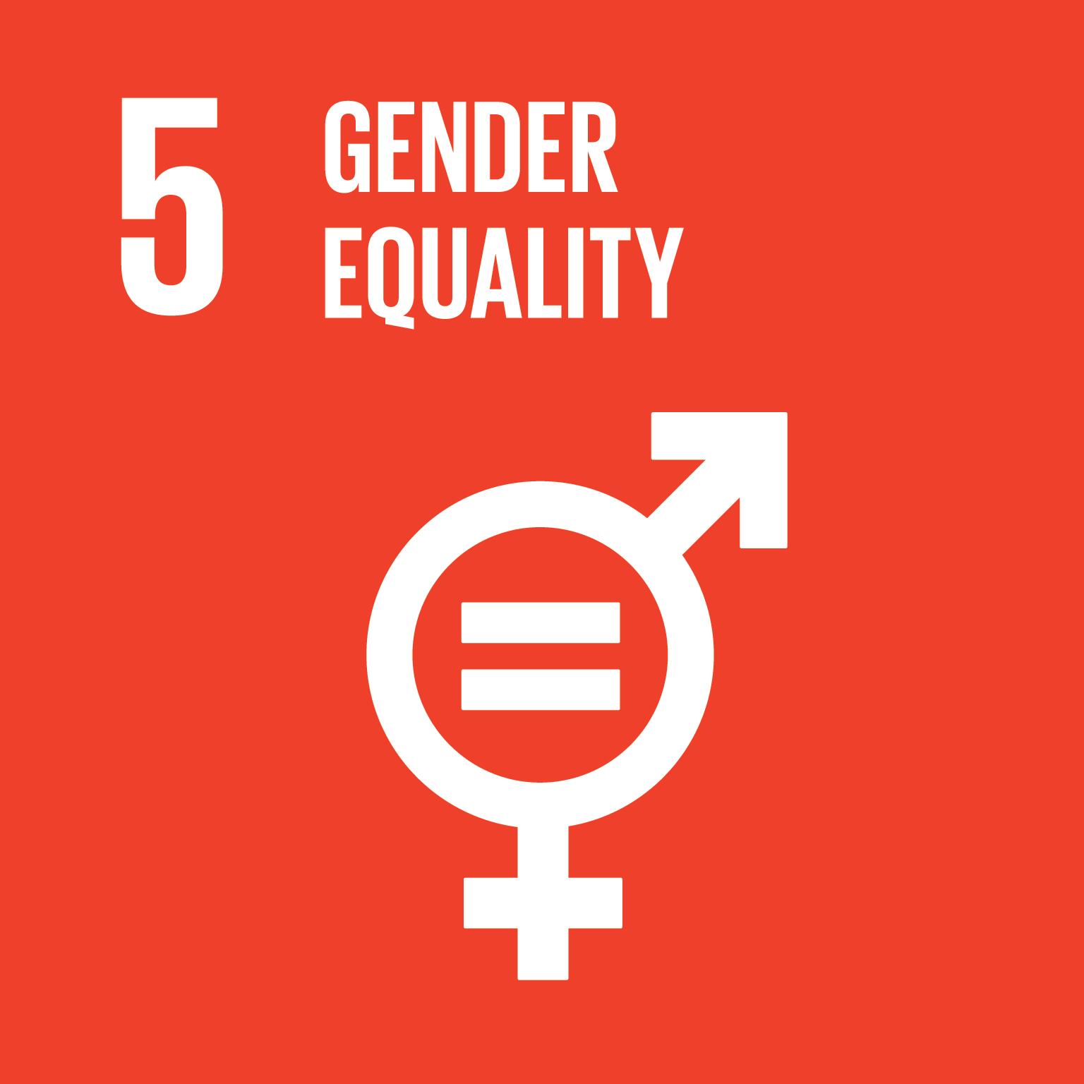 SDG Goal 5 'Gender equality' © UN
