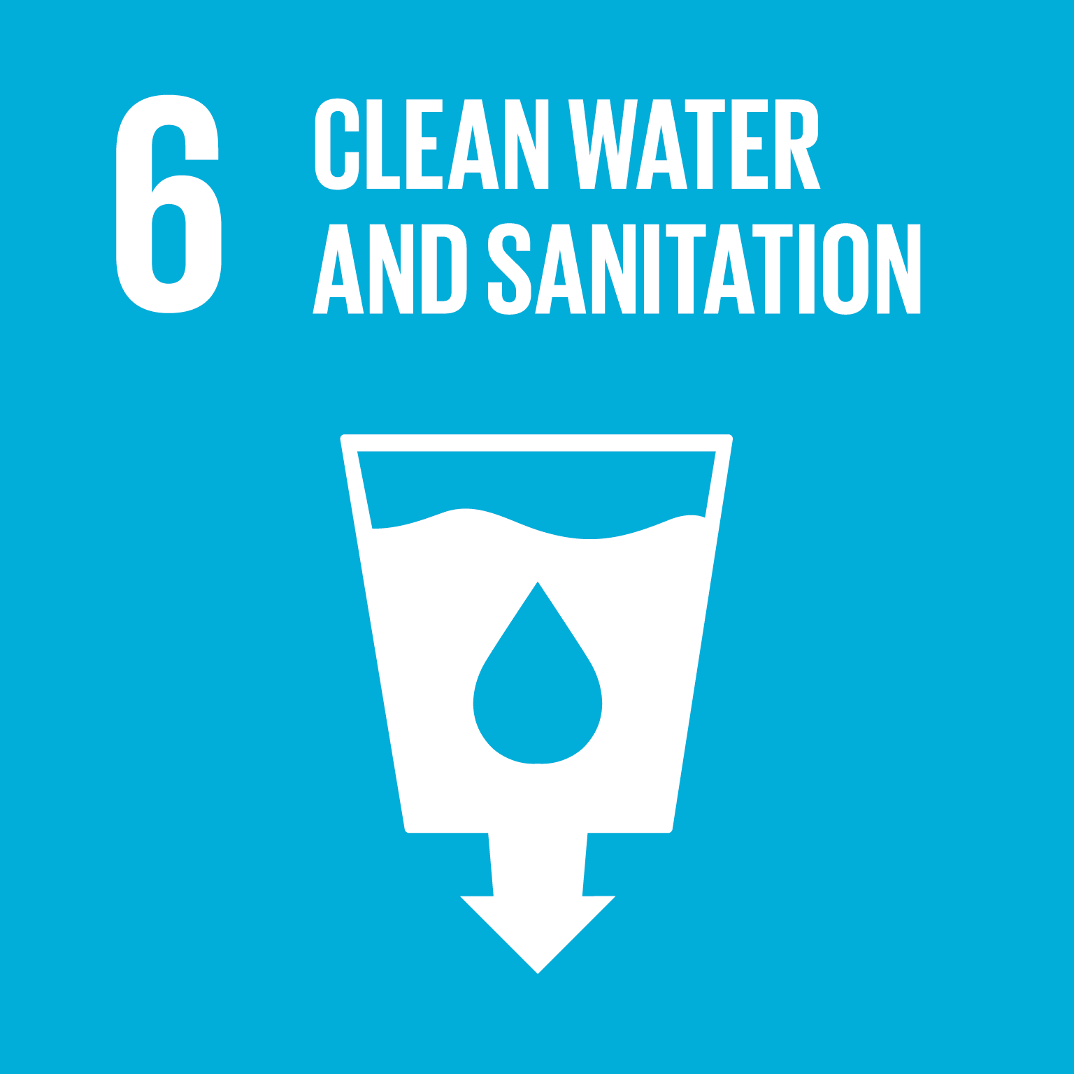SDG Goal 6 'Clean water and sanitation' © UN