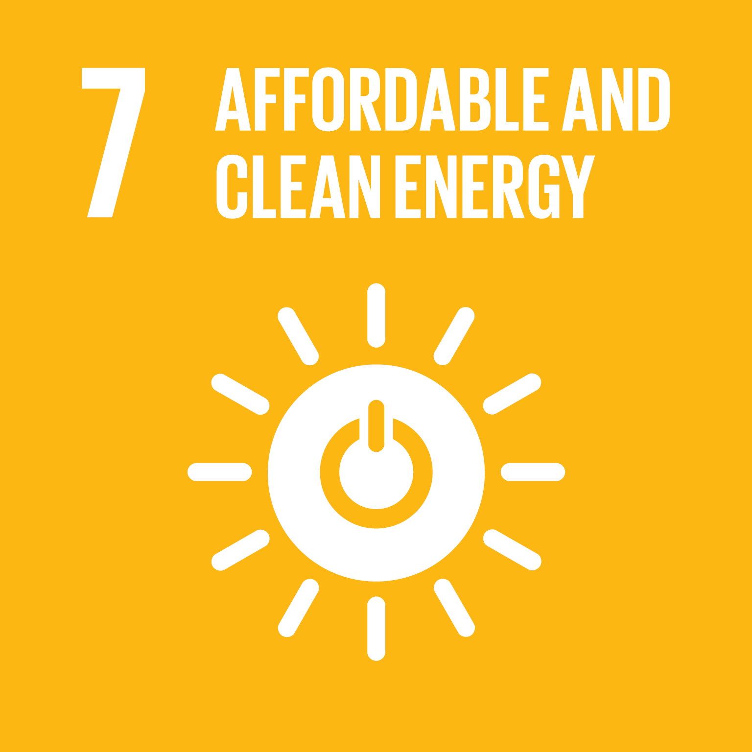 SDG Goal 7 'Affordable and clean energy' © UN