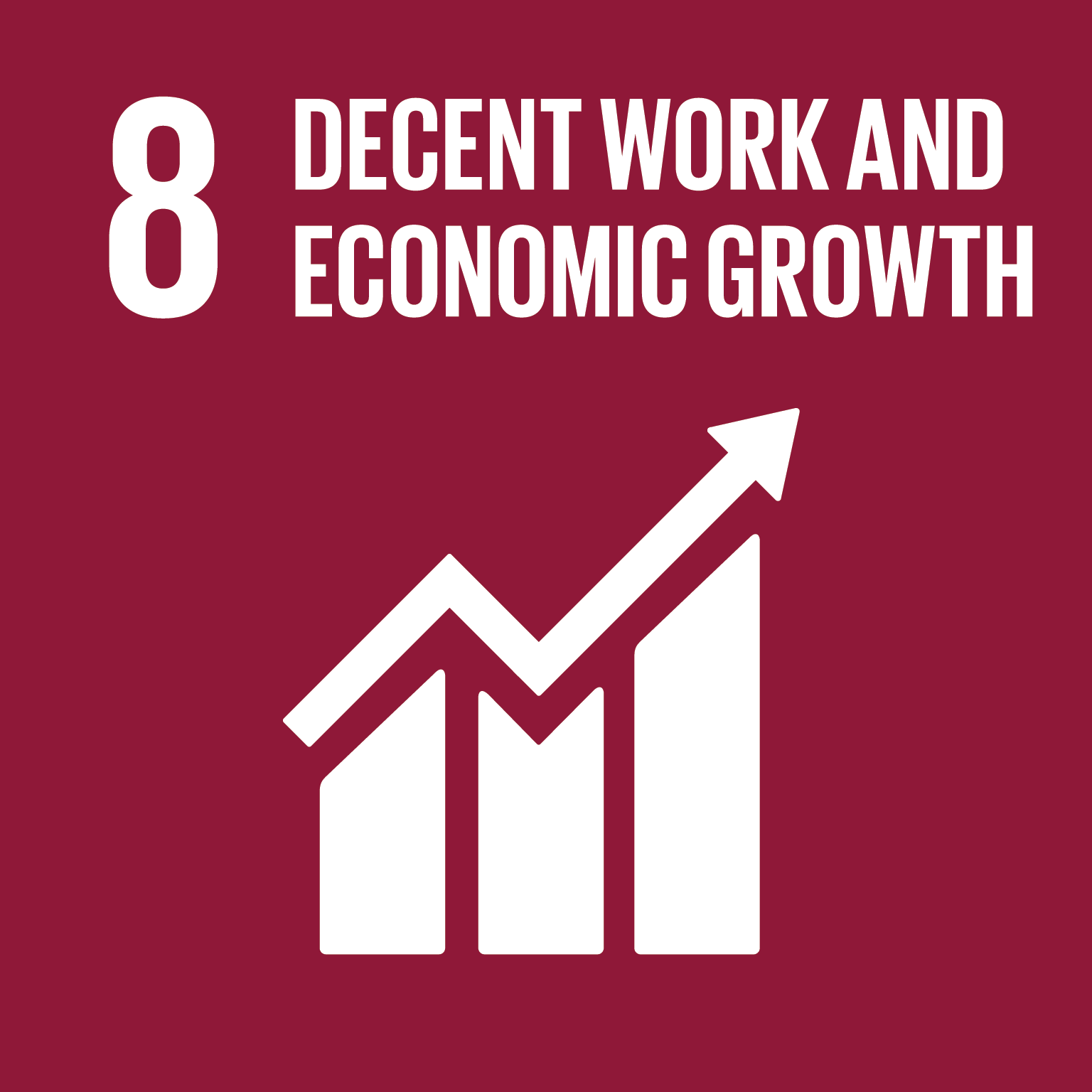 SDG Goal 8 'Decent work and economic growth' © UN