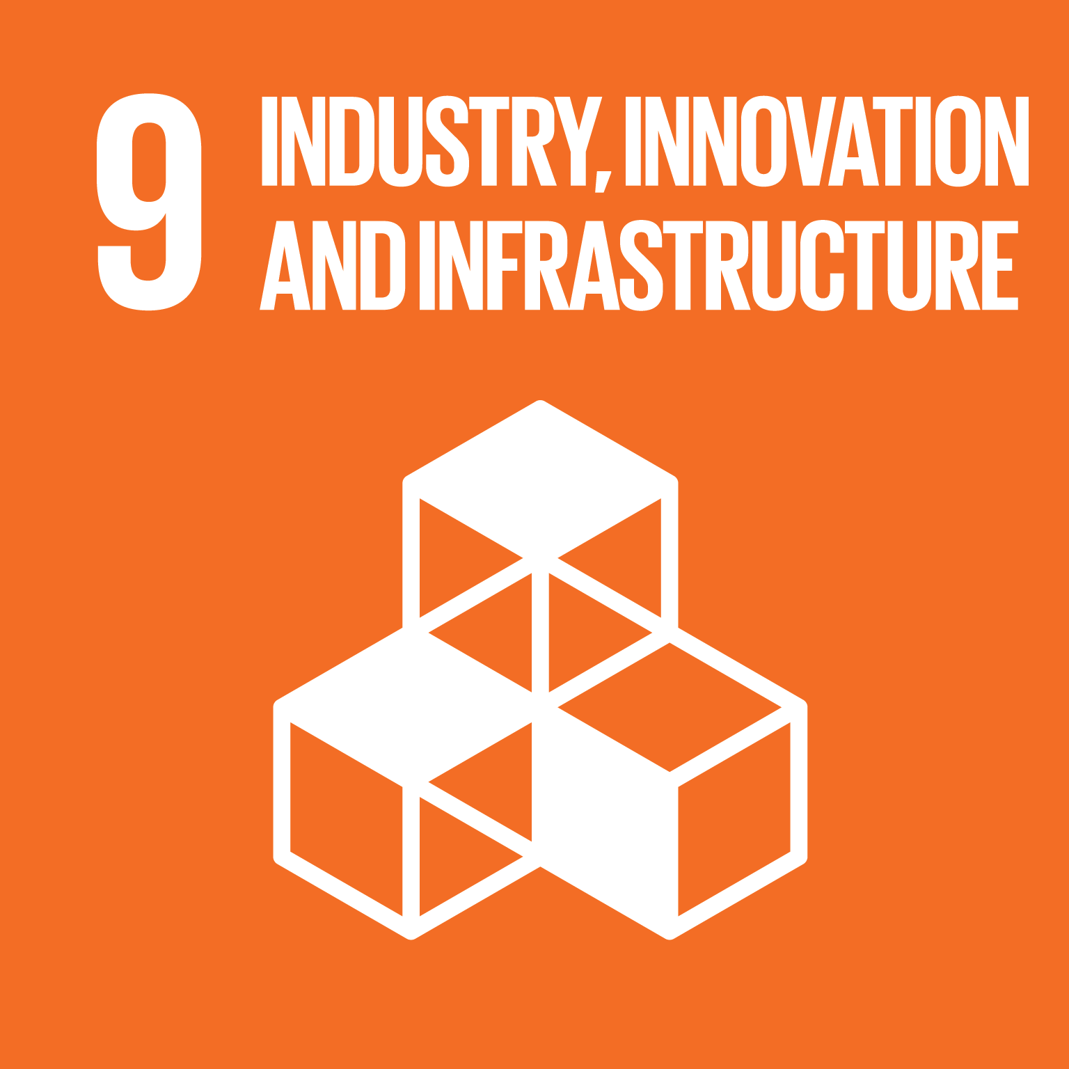SDG Goal 9 'Industry, innovation and infrastructure' © UN