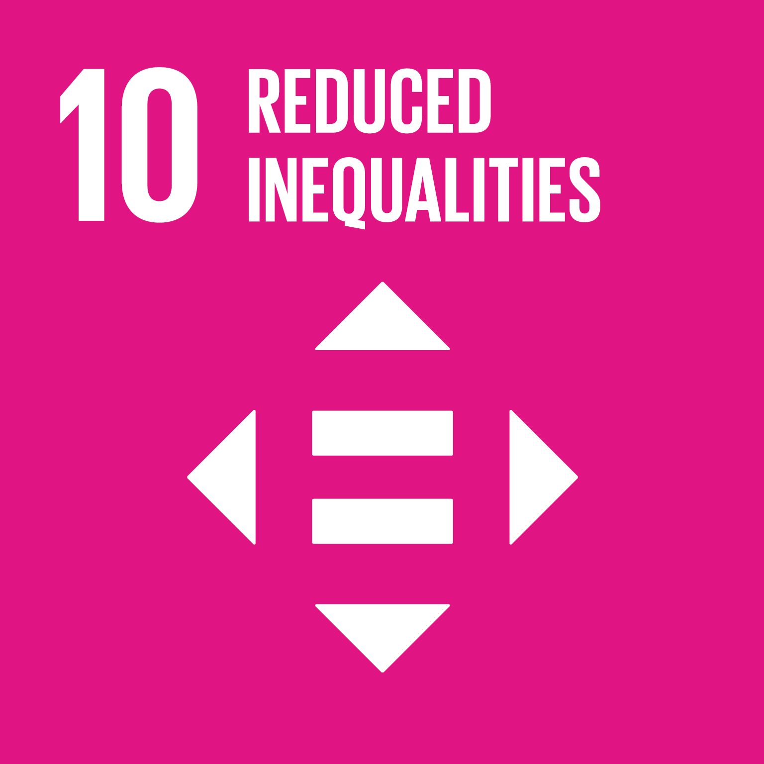 SDG Goal 10 'Reduced inequalities' © UN