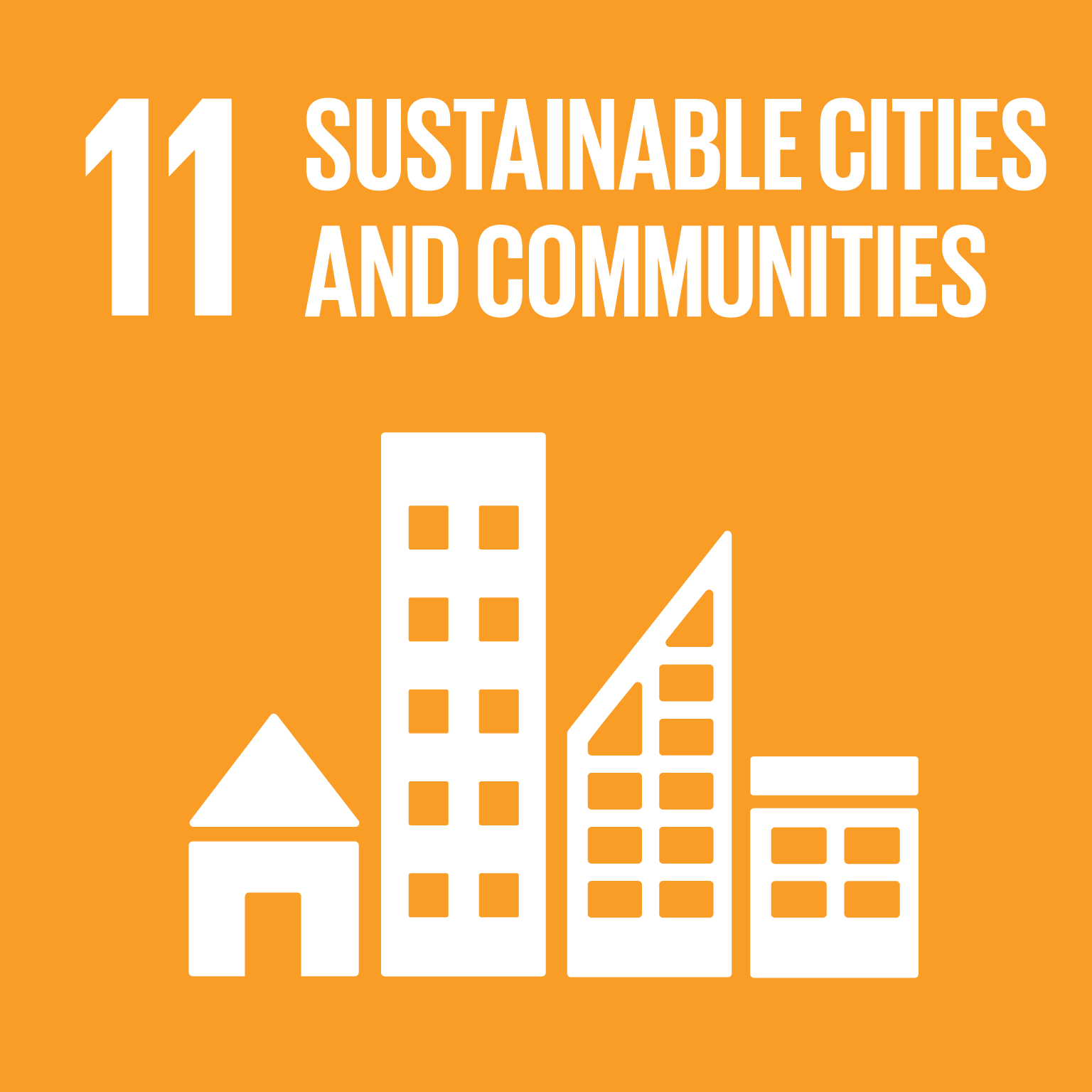 SDG Goal 11 'Sustainable cities and communities' © UN