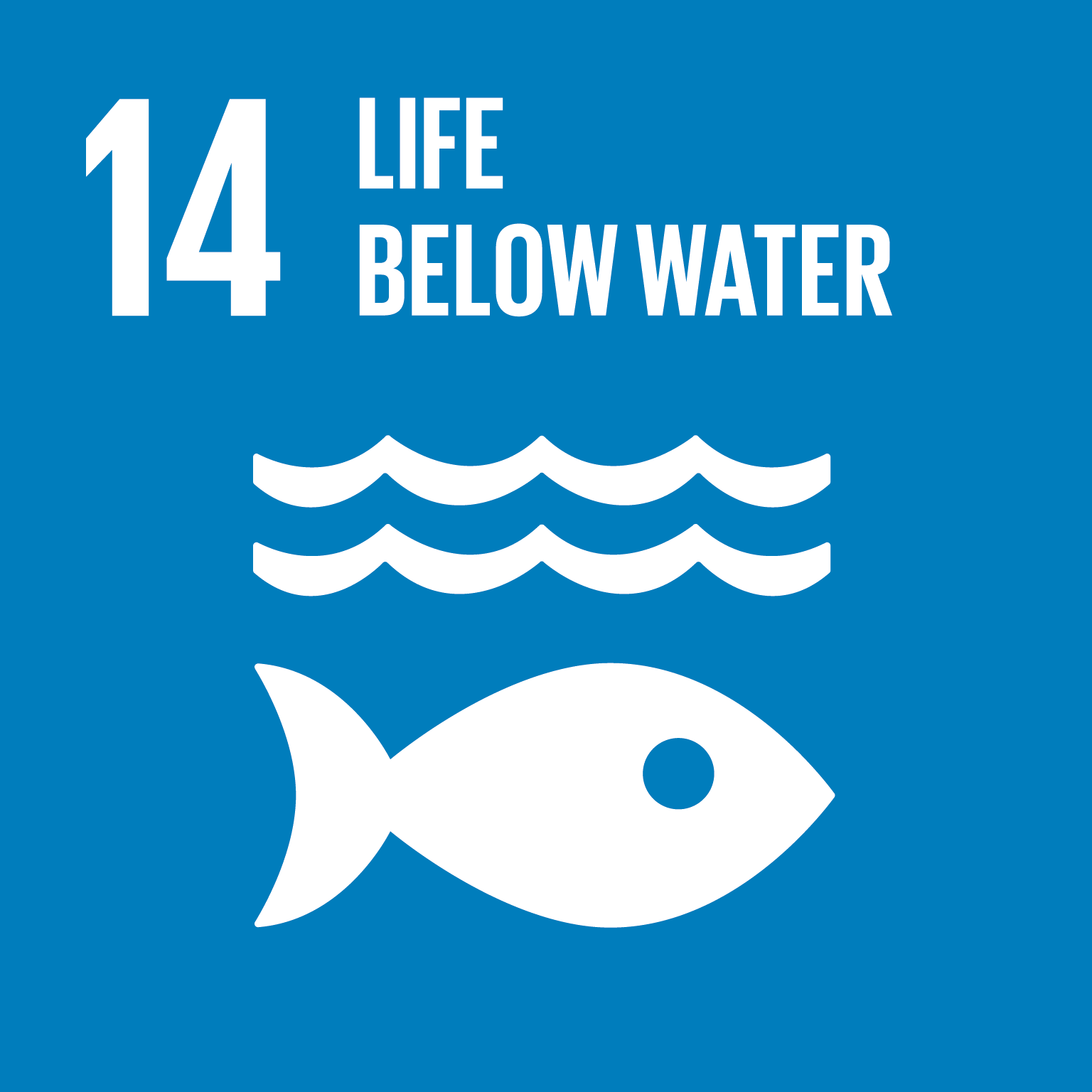 SDG Goal 14 'Life below water' © UN