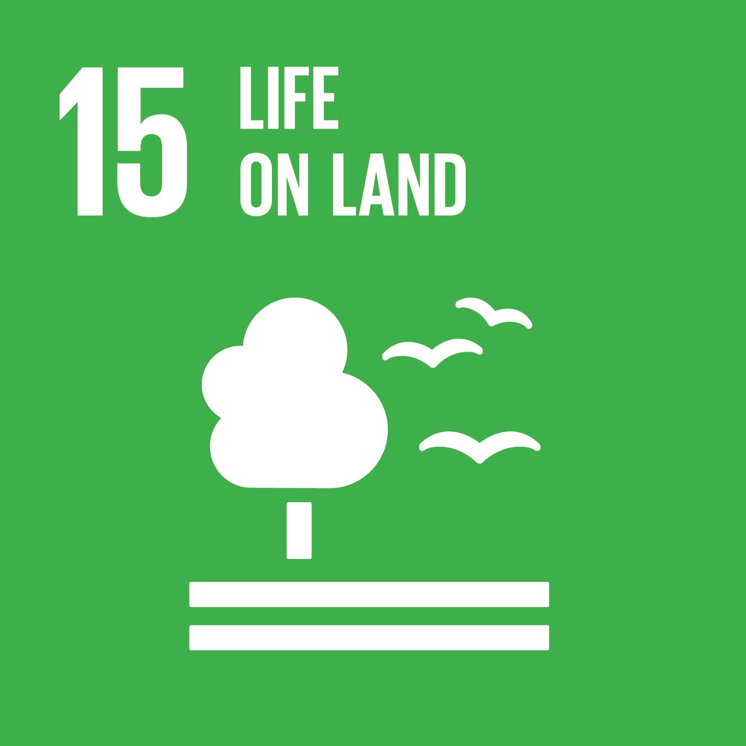 SDG Goal 15 'Life on land' © UN