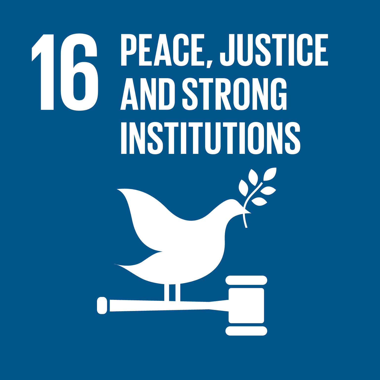 SDG Goal 16 'Peace, justice and strong institutions' © UN
