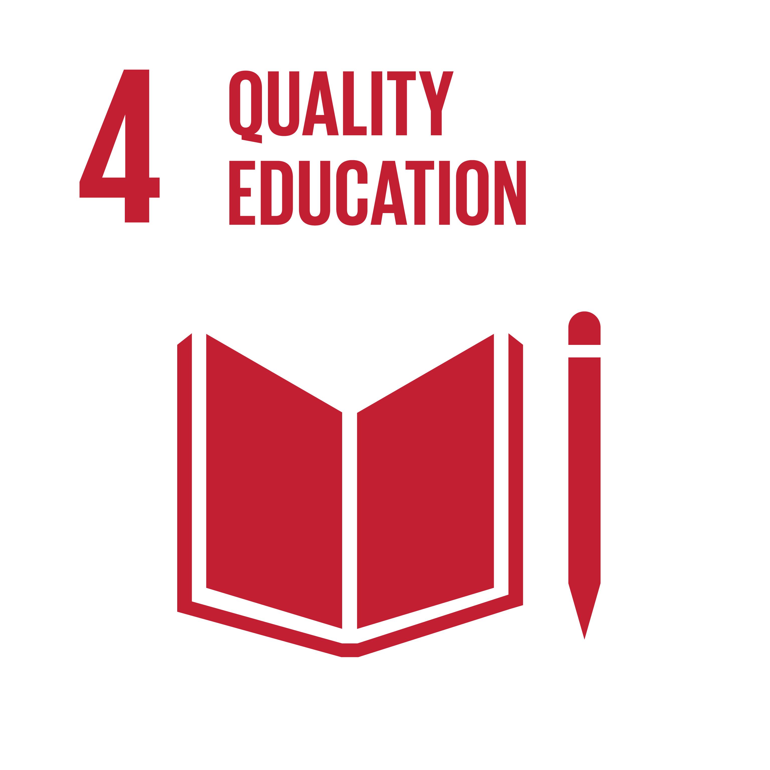 Quality Education on United Nations Logo