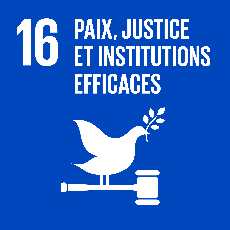 Objectif 16: Paix, justice et institutions efficaces © Nations unies