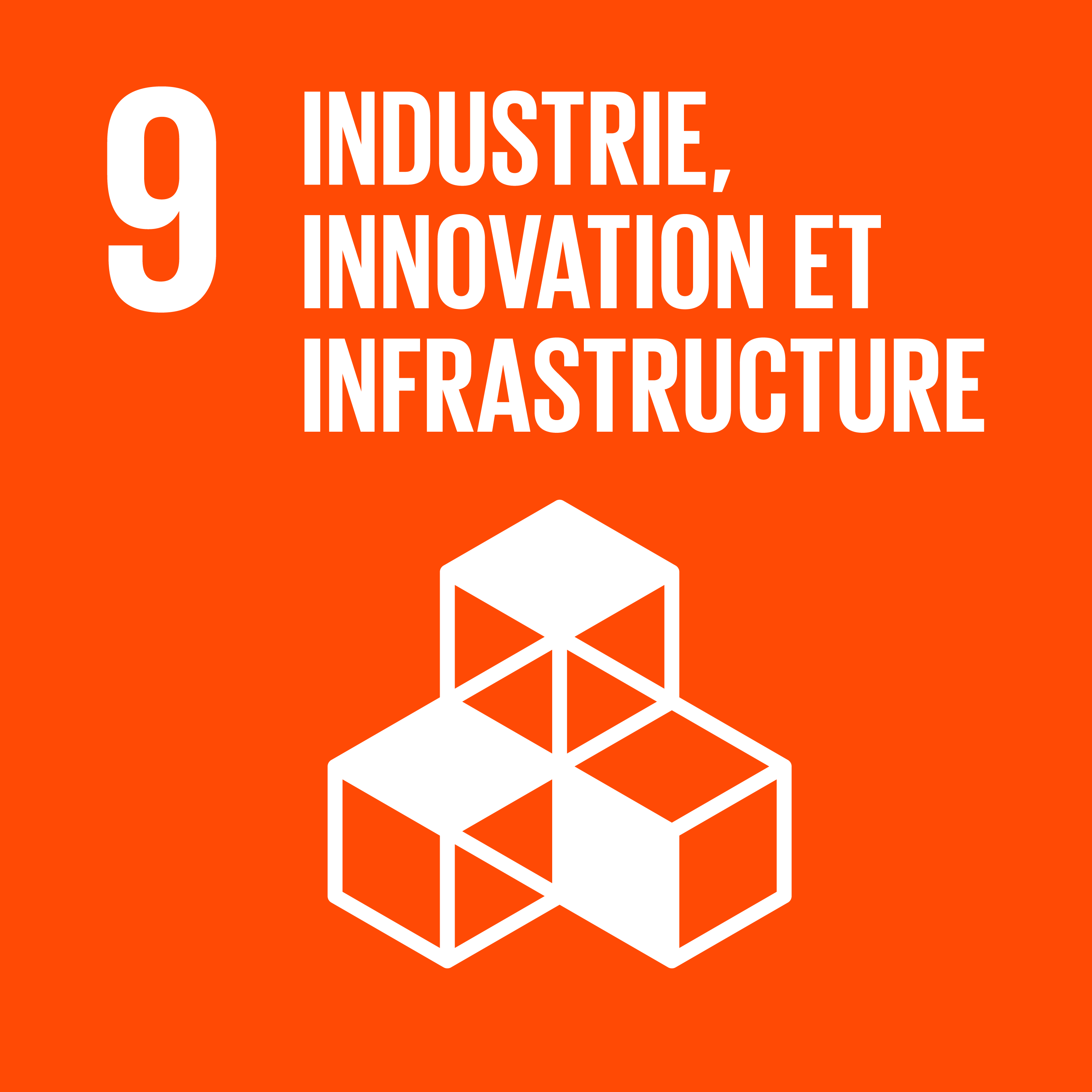 Objectif 9: Industrie, innovation et infrastructure © Nations unies