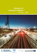 Cover image of the publication 'Glossary for transport statistics'