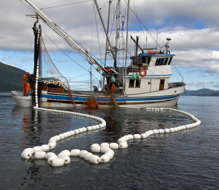 Image illustrating a fishing ship