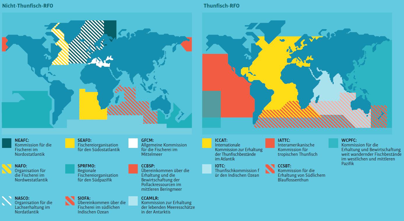 Karte zu RFMOs