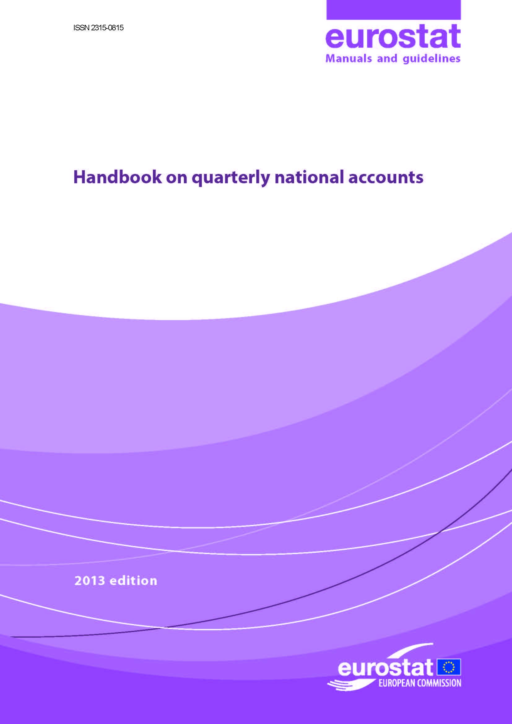 Handbook on quarterly national accounts - 2013 edition