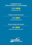 Couverture Système européen des comptes - SEC 2010 - Programme de transmission des données (multilingue)
